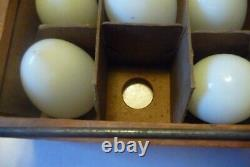 12 Vintage Antique Milk Glass Hand Blown Eggs For Nesting Laying Chicken Eggs