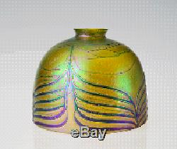 7 Replacement Dome Shade Blown Art Glass Iridescent Lamp Shade 2.25 Fitter
