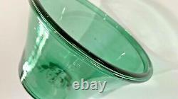 American Early 19th C. Blown Teal Green Glass Bowl, Mint, Great Color, AAFA