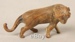 Ancient Roman Hand Made Blown Opaque Amber Glass Lion Figurine 2000 Years Old