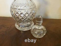 Antique 19th century Blown Cut Glass Crystal Wine Whiskey Decanter Anglo Irish
