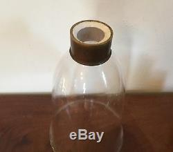 Antique Blown Glass Shade for Lamp Candlestick Hurricane Wall Sconce 19th c