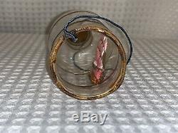 Antique Celluoid Ship In A Blown Glass Bottle 6 Italian Christmas Ornament RARE