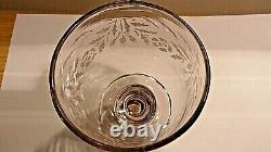 Antique Georgian Hand Blown Large Heavy Etched Rummer Drinking Glass