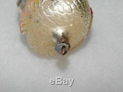 Antique German Blown Glass Christmas Tree Ornament Double Sided Turkey