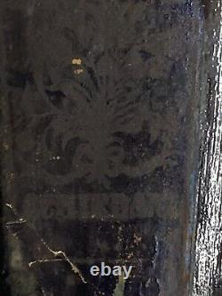 Antique Gin Glass Bottle Olive Green Early Hand Blown Collectibles Rare withcork