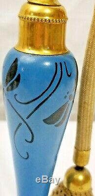 Antique Hand Blown Glass DEVILBISS PERFUME ATOMIZER Dragonfly Art Deco 7 Tall