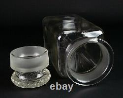 Antique Pomona Country Store or Apothecary Glass Jar w Lid, Blown 1/2 Gallon 11