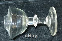 Antique Sandwich Glass Free-Blown Shaped Font Toy Lamp with Blown Glass Base