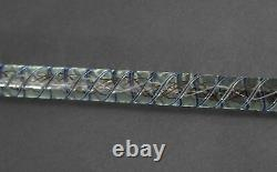 Antique Whimsical Hand Blown End of Day Art Glass Paperweight Walking Cane