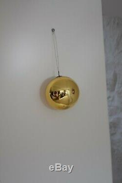 Antique Witches Ball, Mercury Glass Witch Ball, Large Gold Hand Blown Glass Ball
