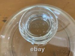 Beautiful Antique Hand Blown 13.5 Clear Glass Drug Store Candy Apothecary Jar