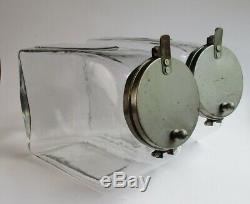 Candy jars blown glass soda fountain or general store display circa 1900 antique