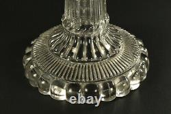 EARLY c. 1830 BOSTON & SANDWICH Co. Blown & Pressed Glass Lacemaker's Oil Lamp