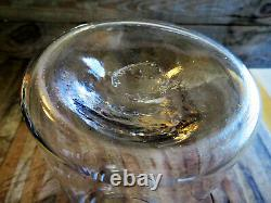 Early American Antique Hand Blown Glass Tin Lid Storage Jar Pantry Apothecary