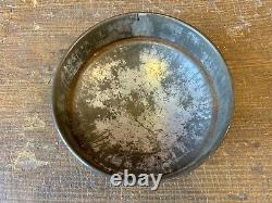 Early Antique Apothecary Blown Glass Pantry Storage Jar Dome Tin LID High Pontil