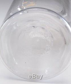 Early Blown Clear Glass Store Pantry Storage Jar Lid Apothecary Rough Pontil