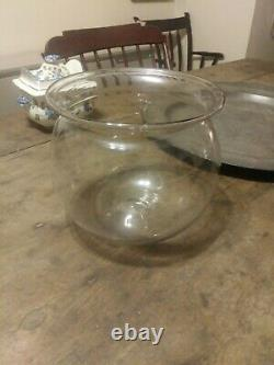 Early Blown Glass Bowl with Pontil 19th C