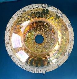 Frosted French Hand Blown Rare MID Century Glass Ceiling Light Pendant Shade Wow