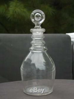 Georgian Decanter 3 Rings 18th Century Lead Glass Hand Blown English