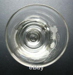 Georgian c. 1790 Hand Blown Etched Hop Barley Large Antique Rummer Drinking Glass