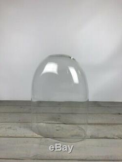 Handmade Mouth Blown Clear Oval Glass Display Cloche Bell Jar Dome 31.5 cm