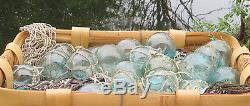 Japanese Glass Fishing FLOATS 2 Mixed LOT-20 10 Netted 10 witho Net Display Decor
