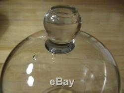 Large Vintage Hand Blown Glass Dome Display Cloche 16 Tall 7 lbs 6 oz