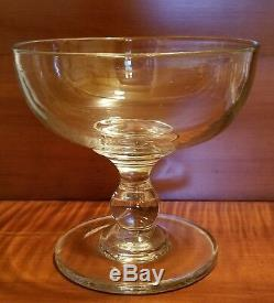 Petite 19th Century Clear Blown Flint Glass Compote poss. Pittsburgh or Wheeling