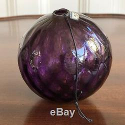 Rare Antique Victorian Hand Blown Amethyst Glass Christmas Bauble, 19th Century