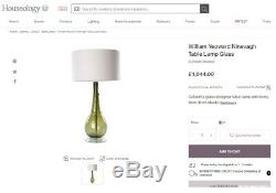 Rrp £1044 William Yeoward Green Ninevagh Large Table Lamp Hand Blown Glass