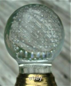 Vintage Architect HAND BLOWN DOOR KNOB SET withstem Crystal Glass Ball Style RARE