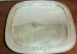 Vintage Cake Plate Stand Silver Plate with Hand Blown Glass by Godinger