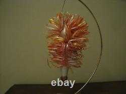 Vintage Italian Blown Glass Christmas Ornament Indian with Headdress